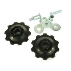 Altrix kis méretű váltógörgő szett (alsó és felső), 10T, műanyag, fekete
