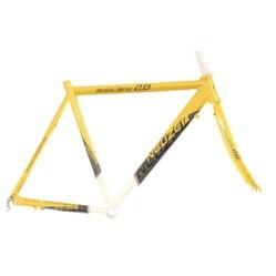Neuzer Whirlwind 2.0 országúti kerékpár váz és villa szett, sárga, 50cm