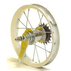 """Hauser 12"""" hátsó kerék, csavaros tengellyel, kontrafékes, ezüst"""