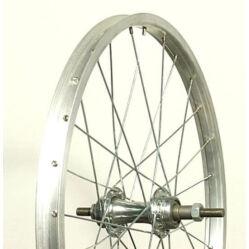 Neuzer 20-as(406 mm) hátsó kerék, csavaros tengellyel, menetes racsnihoz, szf, ezüst
