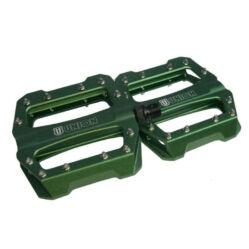 Union SP-1300 ipari csapágyas alumínium platform pedál, cserélhető tüskékkel, zöld