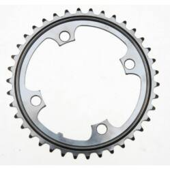 Bike Positive Single Speed első lánckerék 38T, 104 mm, acél, fekete
