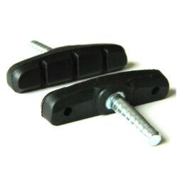 Alhonga menet nélküli, csapos fékpofa, 60 mm, fekete