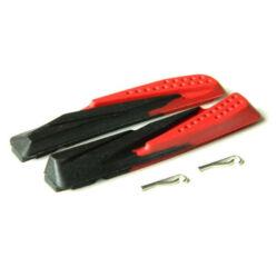 Tektro csere fékbetét gumi V-fékhez, fekete-piros