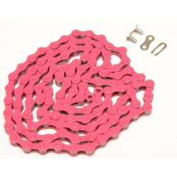 KMC Z410 kerékpár lánc, 1s (1/8 col), 116 szem, sötét rózsaszín