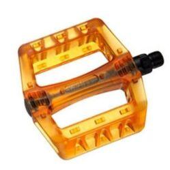 Wellgo B107P átlátszó műanyag platform pedál, barna