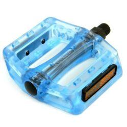 Wellgo B107P átlátszó műanyag platform pedál, kék