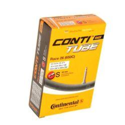 Continental Race26 26 x 0,8-1,0 (20-25x 559-571) DO MTB belső gumi, FV42 (42 mm hosszú szeleppel, presta) Dobozos kiszerelésű belső gumi 559-570 mm-es külső gumikhoz, 20-25 mm szélességben.