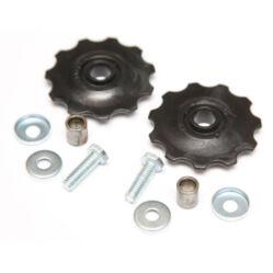 Kis méretű váltógörgő készlet, 40 mm 11T, 2 db, műanyag, fekete