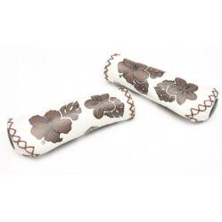 Velo ergonomikus bőr markolat, 135 mm, virágmintás, fehér