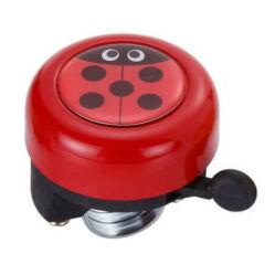 Acor ABE21303 gyerek fém csengő, piros, katicás