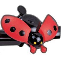 Acor ABE2201 gyerek acél-műanyag csengő, piros, katicás