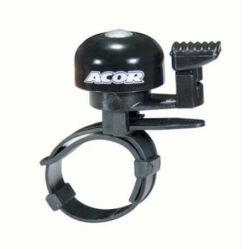 Acor ABE2807 pengetős alu csengő, állítható bilinccsel, fekete