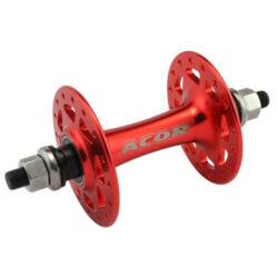 Acor AHU21005F első pálya kerékagy, 36H, csavaros, ipari csapágyas, piros