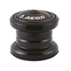 Acor AHS2901 1 1/8 colos (28,6 mm) külső csészés A-head kormánycsapágy, golyóskosaras, acél csészés, fekete