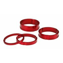 """Acor ASM21404 kormányszár alátét (stucni hézagoló) szett 28,6 x 3-5-8-10 mm (1 1/8""""), alumínium, piros"""