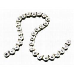 Acor ACA2601 single speed kerékpár lánc, 1s, 96 szem, ezüst