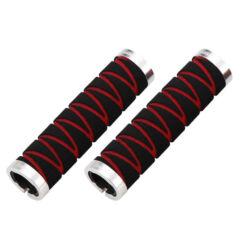 Acor ASG21401 bilincses szivacs markolat, 130 mm, fekete-piros, ezüst  bilinccsel