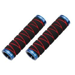 Acor ASG21401 bilincses szivacs markolat, 130 mm, fekete-piros, kék bilinccsel