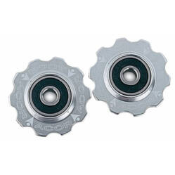 Acor ARO601 ipari csapágyas váltógörgő szett (alsó és felső), alumínium, ezüst színű