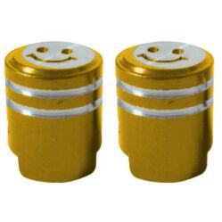 Acor AOS21203 alumínium szelepsapka, presta szelepes, párban, arany
