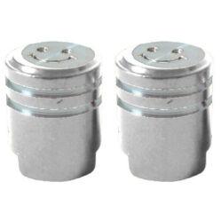 Acor AOS21301 dugattytú alumínium szelepsapka, autó szelepes, párban, ezüst