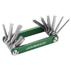 Acor ATL21303 marokszerszám, 10 funkciós, zöld-fekete