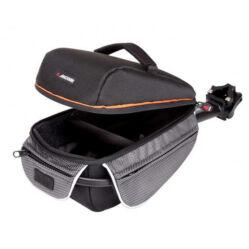 Acor ABG21104 nyeregcsőre rögzíthető táska esőhuzattal, 4,5L, fekete-szürke