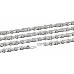 Connex 10S1 Hollowpin kerékpár lánc, 10s, 114 szem, patentszemmel, ezüst