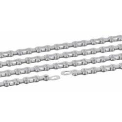 Connex 904 kerékpár lánc, 9s, 114 szem, patentszemmel, ezüst