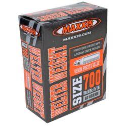 Maxxis Welter Weight (0,9 mm) 622x18/25 (700c) országúti belső gumi FV80 (80 mm hosszú szeleppel, bontható presta), 86g