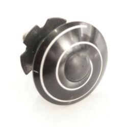 Spyral kormánycsapágy csillaganya és kupak 1 1/8 col, fekete