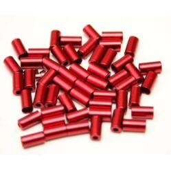 Alhonga fém bowdenház kupak 5 mm-es fékbowdenhez - piros színű