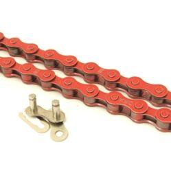 KMC Z410 kerékpár lánc patentszemmel, 1s (1/8 col), 110 szem, piros