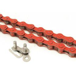 KMC Z410 kerékpár lánc, 1s (1/8 col), 116 szem, piros