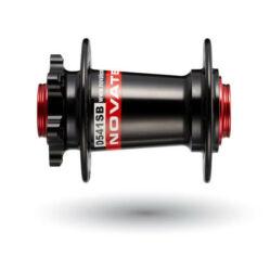 Novatec D541SB MTB első kerékagy, 32H, átütőtengelyes (15-20 mm), tárcsafékes, ipari csapágyas, fekete