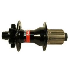 Novatec D882SB DH hátsó kerékagy, 32H, tárcsafékes, átütőtengelyes (12 mm), ipari csapágyas, fekete