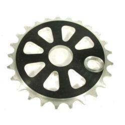 Prowheel BMX lánckerék, 25T, CNC alu, fekete-ezüst