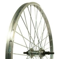 Altrix Basic 24-es első kerék, csavaros tengellyel, szf, ezüst-fekete
