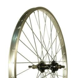 Altrix Basic 24-es hátsó kerék, csavaros tengellyel, menetes racsnihoz, szf, ezüst-fekete