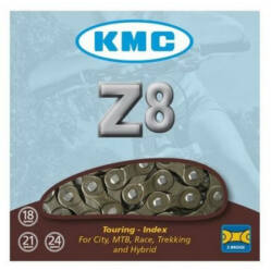 KMC Z8 kerékpár lánc patentszemmel, 6-7-8s (3/32 col - keskeny), 116 szem
