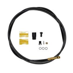 Shimano Saint SM-BH90 hidraulikus fékvezeték 100 cm, Banjo-s, egyik oldalon szabható, fekete-arany
