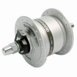 Shimano Nexus DH-2N35 agydinamó, 36H, csavaros, 6V, 2,4W, ezüst színű