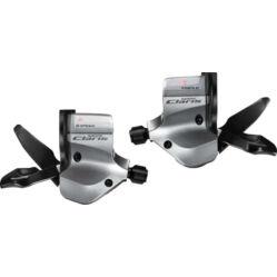 Shimano Claris SL-2400 országúti Rapidfire váltókar, szett(bal, jobb és bowdenszett) egyenes kormányhoz, 2x8s, szürke
