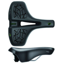 Sportourer Zen Gel Flow férfi komfort nyereg, 267 x 185 mm, 580 g, fekete