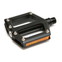 Spyral Branch Fiberglass ipari siklócsapágyas üvegszálas műanyag platform pedál, cserélhető szegecsekkel, fekete