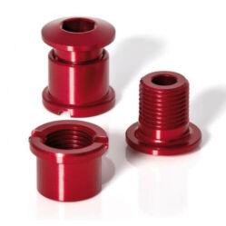 XLC CR-X01 M8 x 8,5 mm hajtómű csavar szett, 5 db, piros