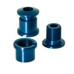 XLC CR-X01 M8 x 8,5 mm lánckerék csavar szett, 5 db, kék