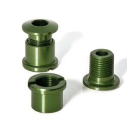 XLC CR-X01 M8 x 8,5 mm lánckerék csavar szett, 5 db, zöld