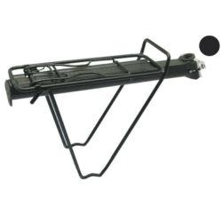 XLC RP-R07 gyosrzáras hátsó csomagtartó nyeregcsőre, 25,4-31,8 mm, alumínium, fekete